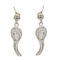 AZAZEL Silver Plated Angel Wing Hook Earrings