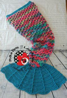 Mermaid tail blanket with fin -  adult mermaid tail- kid mermaid tail - Crocodile stitch   - Cocoon - Crochet afghan - ***MADE to ORDER** by PolkaDotsAndLadyBugs on Etsy https://www.etsy.com/ca/listing/266401087/mermaid-tail-blanket-with-fin-adult