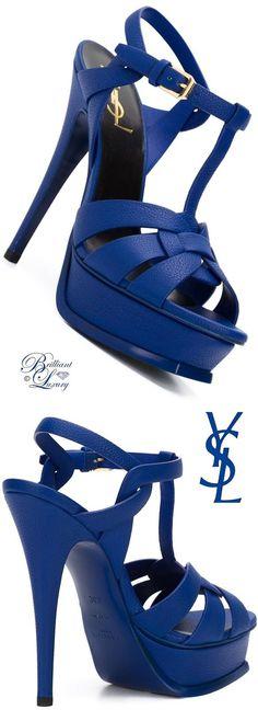 Brilliant Luxury by Emmy DE ♦ Saint Laurent 'Tribute' Sandals