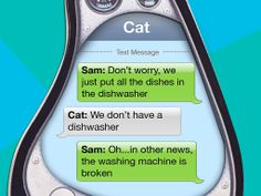 Sam and cat message