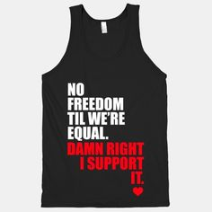 #NoFreedomTillWereEqual. Absolutely love this song! So much respect to Macklemore! #EqualRightsAlly