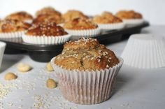 Healthiest protein boosted coconut, macadamia and sesame muffins