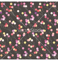 Seamless background with colorful balloons vector by isveta on VectorStock®