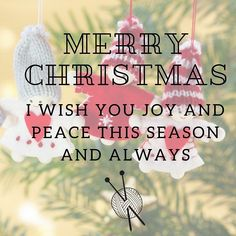 Merry Christmas!  Whatever you celebrate I hope you're life is full of love peace and happiness! #merrychristmas #happychristmas #hohoho #knitmas