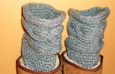 Cable knit leggings, Grey Boot Cuffs, gray boot liner, Boot accessory, handknit boot topper, under boot sock, faux socks, faux leg warmer - pinned by pin4etsy.com