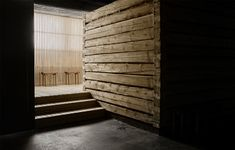 """The sauna is designed by Studio Puisto and is called the Tullin Sauna, which translates to """"customs sauna."""" A public sauna that functions as a related extension to Dream Hotel. Concrete Finishes, Concrete Texture, Nordic Design, Studio, Facade, The Neighbourhood, Industrial, Outdoor Decor, Modern"""