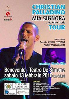 Benevento il 13 febbraio concerto di Christian Palladino