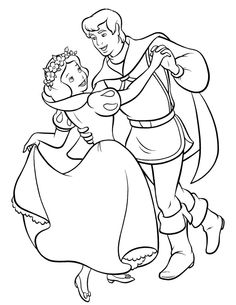 Dance Snow White Coloring Pages