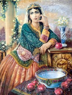 Persian Painting - take note of the unique belt.