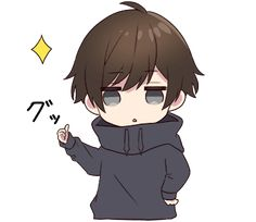 Menhera kun 2 LINE stickers LINE STORE Chibi anime kawaii Cute anime chibi Anime cat boy