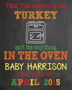2014 thanksgiving pregnancy announcement chalkboard - 2014 thanksgiving paper goods thankful for-f80909.jpg (1200×1500)