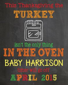 2014 thanksgiving pregnancy announcement chalkboard - 2014 thanksgiving paper goods thankful for-f80909.jpg (1200×1500)