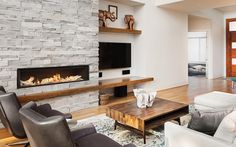 The Modern Flames FusionFire Built-In Electric Fireplace is a stunning linear fireplace with life-like, steam produced flame effects Floating Fireplace, Linear Fireplace, Fireplace Hearth, Home Fireplace, Fireplace Remodel, Modern Fireplace, Fireplace Design, Fireplace Ideas, Tiled Fireplace