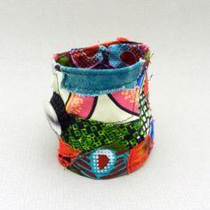 Fabric Cuff, Bracelet Cuff, Patchwork Jewelry- Inspirational idea only