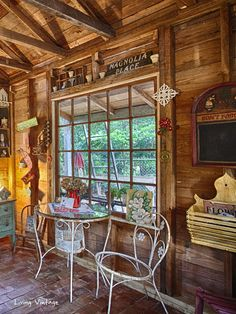 Jenny's adorably decorated garden shed | Living Vintage