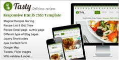 Tasty Delicious recipes - ThemeForest Item for Sale  #webdesign #template