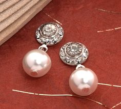 Pearl & Rhinestone Earrings for the bridesmaids: The Jewel Box