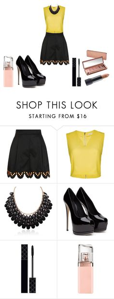 """""""downtown"""" by mmmescher on Polyvore featuring Temperley London, Alice + Olivia, Gucci, Urban Decay, HUGO and Bite"""