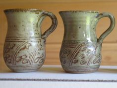Roger Cockram Pottery Mugs x 6 - Collectable Fish Antiques