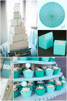 Pick your Wedding Colors: Tiffany Blue Theme Ideas :silver stars instead of starfish
