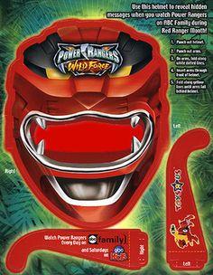 Power Ranger Custom Bind In Power Rangers, Saga, 3d Glasses, Powe Rangers