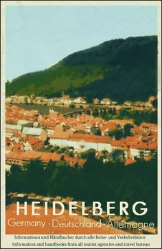 Heidelberg, Germany. If I pin enough pictures of Heidelberg I think when I wake up in the morning I'll be right there.