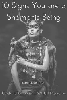 Chaman Tattoo, Witch Magazine, Shaman Woman, Psychic Abilities, Thing 1, Book Of Shadows, Spiritual Awakening, Spiritual Guidance, Healer