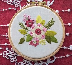 Hand Embroidery For Beginners 20 Flower Embroidery Patterns - Flower embroidery patterns are my favorite. Here's a roundup of 20 patterns. Over half of these patterns are free, so this should keep you busy! Dmc Embroidery Floss, Embroidery Flowers Pattern, Learn Embroidery, Embroidery For Beginners, Hand Embroidery Designs, Embroidery Techniques, Embroidery Kits, Floral Embroidery, Modern Embroidery