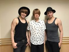 Holy crap!!!! Mamoru is so sexy in a tank top and look at his arms!!!! the guy in the middle is like☹️