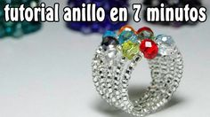 Cómo hacer tres anillos con alambre II/ How to make three rings with wire Jewelry Making Tutorials, Beading Tutorials, Beading Patterns, Tutorial Anillo, Ring Tutorial, Wire Jewelry, Beaded Jewelry, Handmade Jewelry, Jewellery