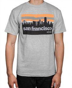 Acrylick - SF Skyline T-Shirt (Grey) - $26