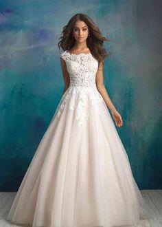 Poofy Wedding Dress, Wedding Dress Necklines, Modest Wedding Dresses, Gown Wedding, Catholic Wedding Dresses, Bridal Gowns, Weeding Dresses, Church Wedding, Lace Wedding