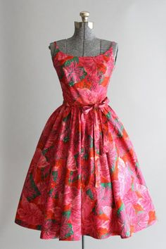 Vintage 1950s Dress / Kamehameha Made in Hawaii / by TuesdayRoseVintage