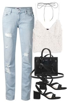 """""""Sin título #3001"""" by charline-cote ❤ liked on Polyvore featuring Paige Denim, Zara, Lilou, Yves Saint Laurent and Gianvito Rossi"""