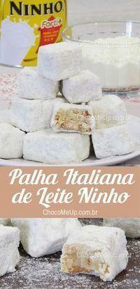 I Love Food, Good Food, Yummy Food, Just Desserts, Dessert Recipes, Milk Recipes, Diy Food, Italian Recipes, Sweet Recipes