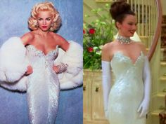 Madonna vs Fran Drescher = two of my favorite people Movie Wedding Dresses, Wedding Movies, Clueless Outfits, Cute Outfits, Fran Fine Outfits, Nanny Outfit, 2000s Fashion Trends, Fran Drescher, Beautiful Dresses