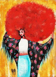 Flower Girl Print By Ria Ria
