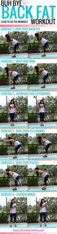 Workouts for women - Exercises for Back Fat