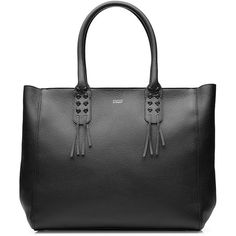 Steffen Schraut Upper West Side Tote (700 BGN) ❤ liked on Polyvore featuring bags, handbags, tote bags, black, leather tote purse, genuine leather tote, leather purse, leather handbags and black tote handbag