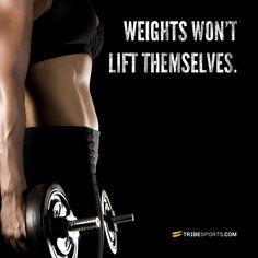 Weights won't lift themselves. #challengeyourself #jointhetribe #fitness #workout #exercise #body #fitspo #tribesports #fitspiration #motivation