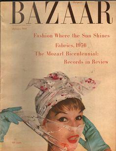 Harpers Bazaar January 1956 - EphemeraForever.com