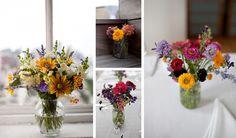 DIY wedding centerpieces. Photos by Casey Fatchett - www.fatchett.com