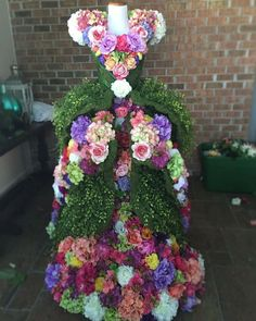 Floral Mannequin designed by Legare Simspon from A Ribbon Runs Through it