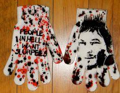 DiY The Walking Dead Gloves Daryl Dixon Zombies. 15.00, via Etsy.