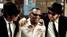 The Blues Brothers had a lot of famous musicians in it, including Ray Charles, as seen here.