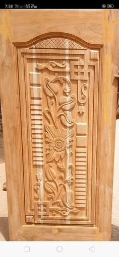 Lesser Seen Options for Custom Wood Interior Doors Pooja Room Door Design, Bedroom Door Design, Door Design Interior, Interior Exterior, Wooden Front Door Design, Door Gate Design, Wood Front Doors, Wooden Doors, Single Main Door Designs