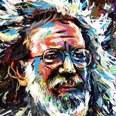Jerry Garcia Art - Grateful Dead | Rockchromatic