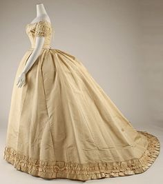 Ensemble (image 2 - side) | Emile Pingat | 1866-68 | French; Paris | silk | Metropolitan Museum of Art | Accession Number: C.I.43.66a–c