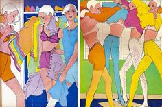 NYC Fashion week in graphic - Antonio Lopez for Elle, 1967 --> n exhibition of the famed fashion illustrator-turned-Seventies-disco-darling's daring work opens today at The Suzanne Geiss Company on Grand Street in New York.