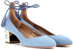 Mid-Heel Pumps von Aquazzura in Denim (on Sale!)